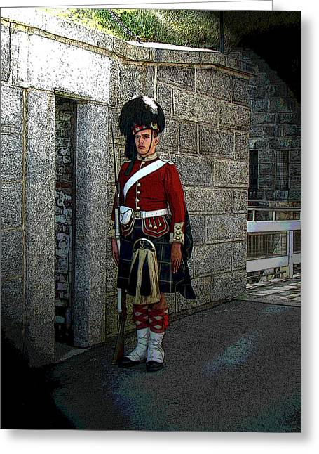 Bayonet Greeting Cards - We Stand On Guard For Thee Greeting Card by Al Bourassa