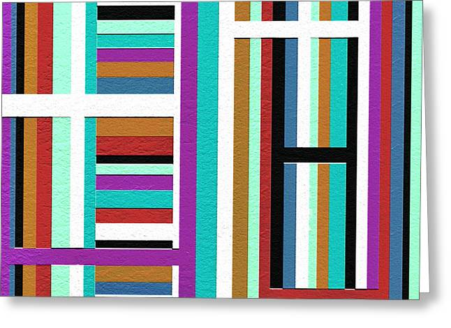Geometrical Art Greeting Cards - Weak Greeting Card by Ely Arsha