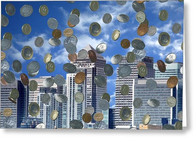 Economic Crisis Greeting Cards - Wealth Creation, Conceptual Image Greeting Card by Victor De Schwanberg