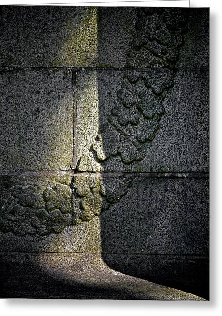 Stone Carving Greeting Cards - Wear Your Garland In Light Greeting Card by Odd Jeppesen
