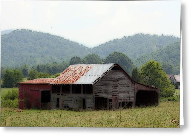 Tennessee Barn Digital Art Greeting Cards - Wears Valley Barn Greeting Card by Barry Jones