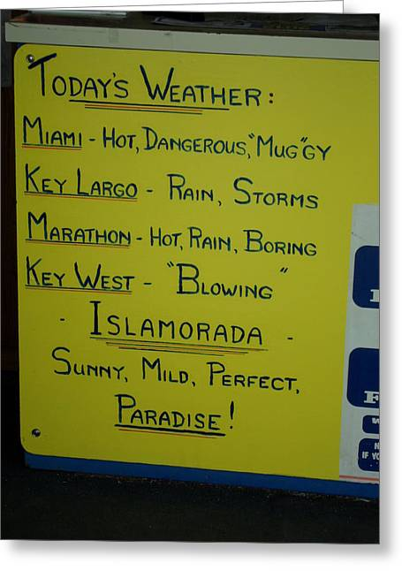 Weather Report Greeting Cards - Weather Report Greeting Card by Val Oconnor