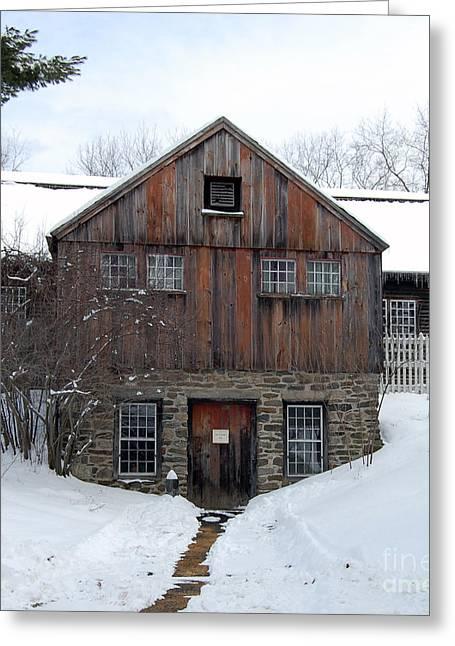 Sturbridge Village Greeting Cards - Weathered Building at Old Sturbridge Village Greeting Card by John Small