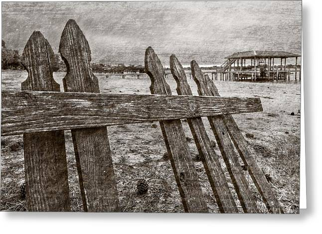 Storm Prints Photographs Greeting Cards - Weathered Greeting Card by Debra and Dave Vanderlaan