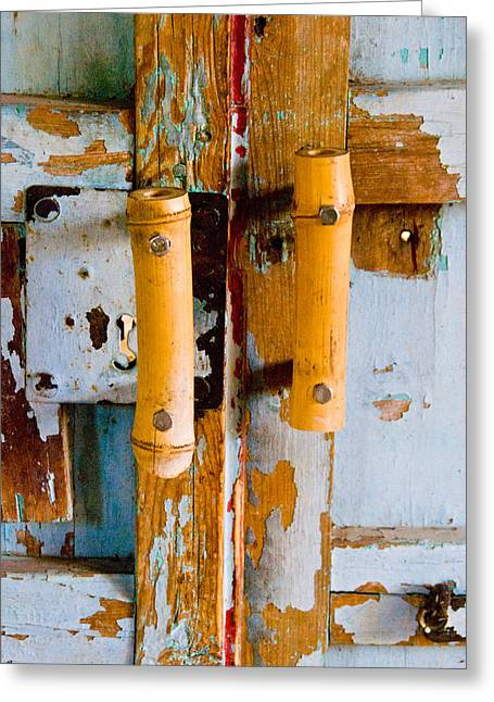 Entryway Greeting Cards - Weathered entry Greeting Card by Anthony Citro