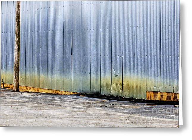 Metal Sheet Greeting Cards - Weathered Greeting Card by Gib Martinez