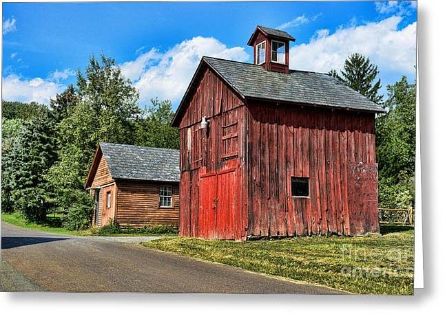 Weathered Barn Greeting Cards - Weathered Red Barn Greeting Card by Paul Ward