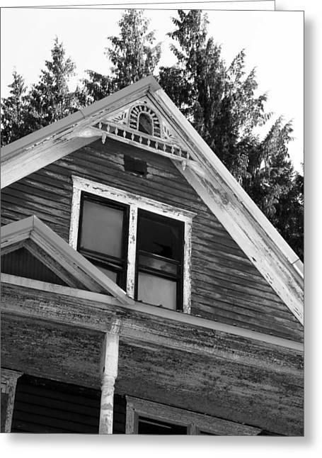 Historic Architecture Greeting Cards - Weathered Wood Greeting Card by C Thomas Cooney