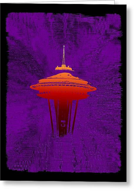 Seattle Center Greeting Cards - Weathering The Storm Greeting Card by Tim Allen