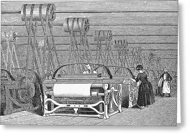 Mechanization Greeting Cards - Weaving Looms Greeting Card by Science, Industry & Business Librarynew York Public Library