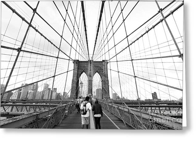 Brooklyn Greeting Cards - Web of Love Greeting Card by Andrew Serff