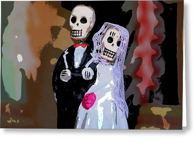 Tuxedo Greeting Cards - Wed Dead Greeting Card by Glennis Siverson
