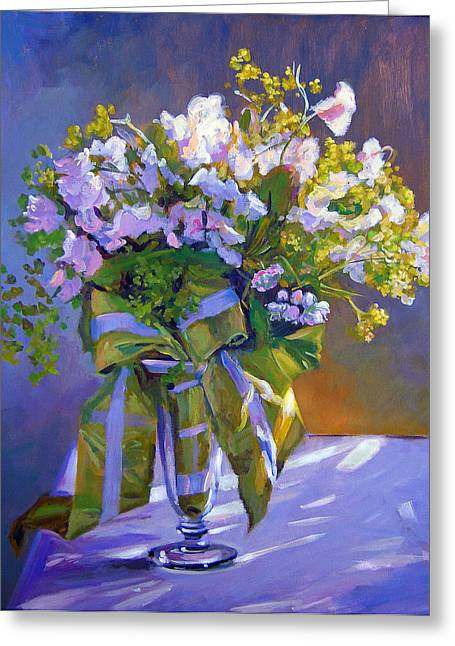 Lavendar Greeting Cards - Wedding Bouquet Greeting Card by David Lloyd Glover
