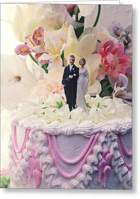 Figurines Greeting Cards - Wedding cake Greeting Card by Garry Gay