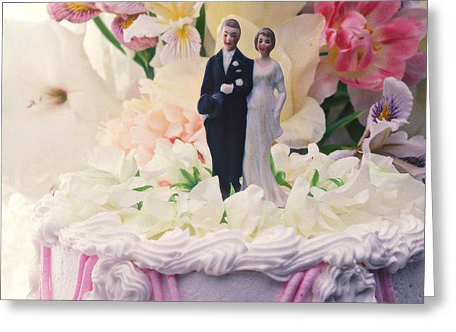 Wedding cake Greeting Card by Garry Gay
