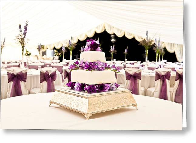 Cakes Greeting Cards - Wedding Cake Greeting Card by Tom Gowanlock