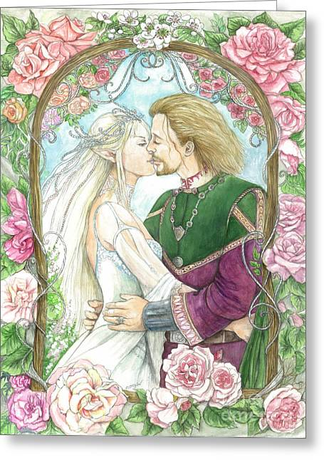 Enchanter Greeting Cards - Wedding day Greeting Card by Morgan Fitzsimons