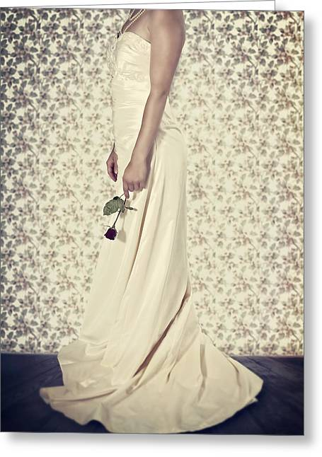Evening Dress Greeting Cards - Wedding Dress Greeting Card by Joana Kruse