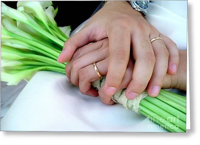 Wedding Rings Greeting Card by Carlos Caetano