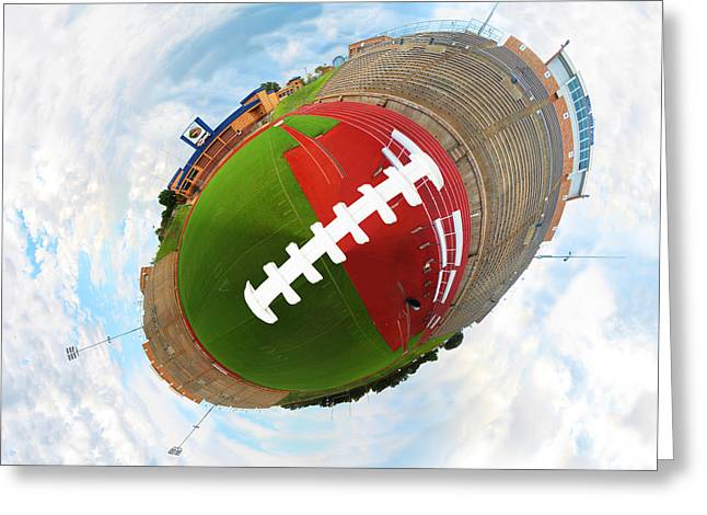 Offense Digital Art Greeting Cards - Wee Football Greeting Card by Nikki Marie Smith