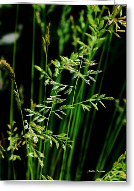 Mikki Cucuzzo Greeting Cards - Weeds Greeting Card by Mikki Cucuzzo