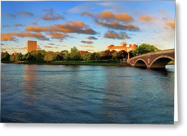 Week Greeting Cards - Weeks Bridge Panorama Greeting Card by Rick Berk