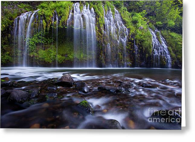 Water Flowing Greeting Cards - Weeping Wall II Greeting Card by Keith Kapple