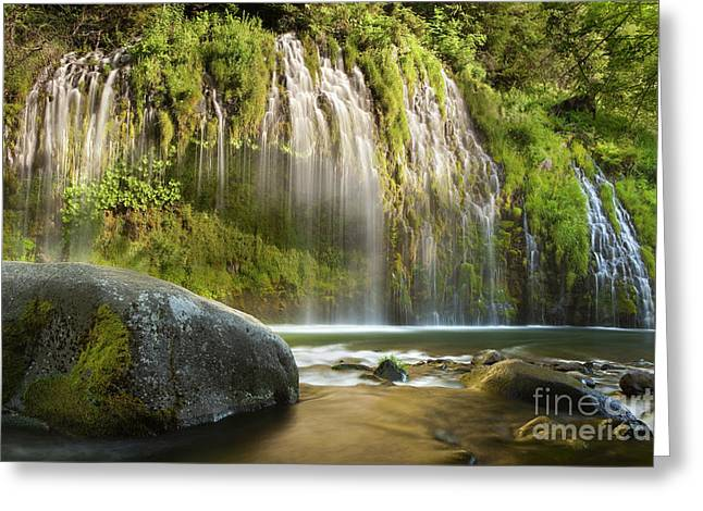 Water Flowing Greeting Cards - Weeping Wall Greeting Card by Keith Kapple