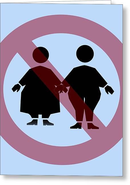 Discrimination Photographs Greeting Cards - Weight Discrimination, Computer Artwork Greeting Card by Christian Darkin