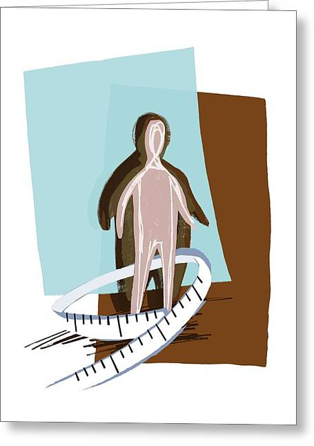 Conscious Greeting Cards - Weight Loss, Conceptual Artwork Greeting Card by Paul Brown
