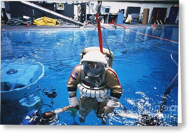 Buoyancy Greeting Cards - Weightless Environment Training Greeting Card by Science Source