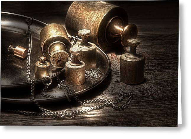 Apothecaries Greeting Cards - Weights and Measures Greeting Card by Tom Mc Nemar