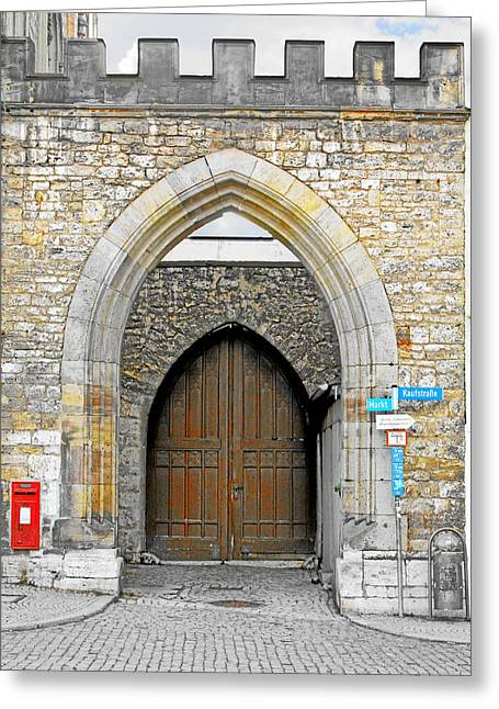 Arch Greeting Cards - Weimar - UNESCO World Heritage Site Greeting Card by Christine Till