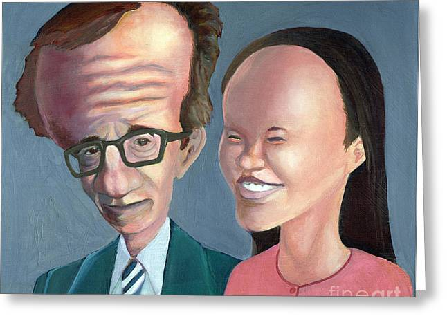Woody Allen Greeting Cards - Weird Family Greeting Card by Lucerito Gonzalez