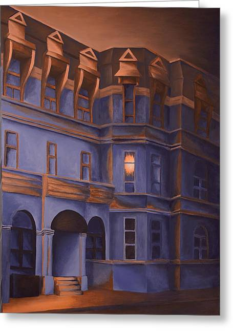 Montreal Urban Landscapes Greeting Cards - Welcome Home - A Light in the Window Greeting Card by Duane Gordon