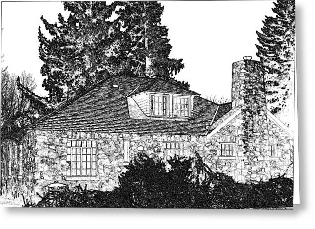 Stone Chimney Greeting Cards - Welcome Home 5 Greeting Card by Will Borden