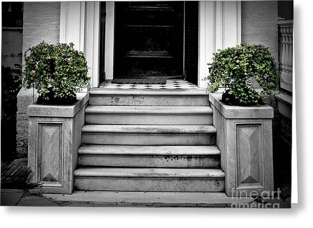 Front Steps Greeting Cards - Welcome Steps Greeting Card by Perry Webster