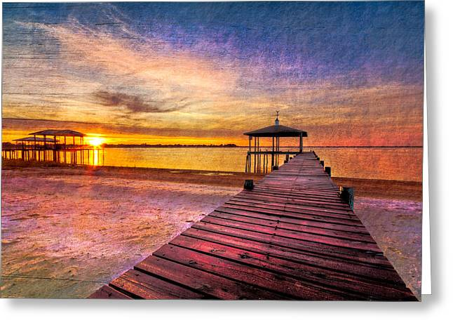Gazebo Greeting Card Greeting Cards - Welcome the Morning Greeting Card by Debra and Dave Vanderlaan