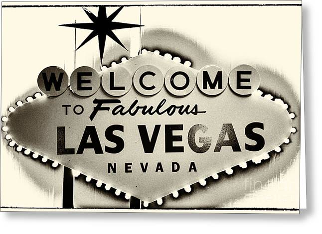 Leda Photography Photographs Greeting Cards - Welcome to Fabulous Las Vegas Nevada Greeting Card by Leslie Leda
