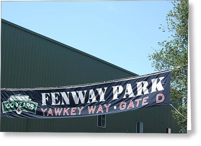 Welcome To Fenway Park Greeting Card by Stephen Melcher