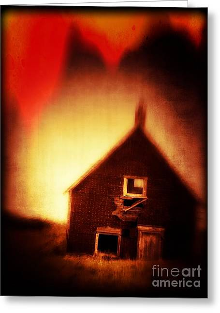 Welcome To Hell House Greeting Card by Edward Fielding