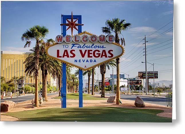 Las Vegas Art Greeting Cards - Welcome To Las Vegas Series Greeting Card by Ricky Barnard