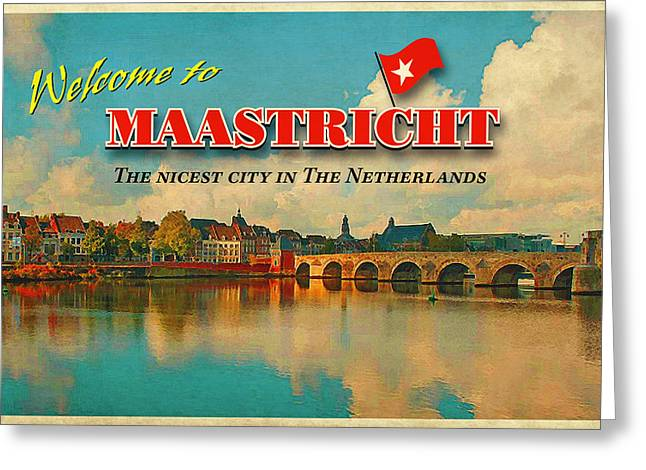 Limburg Digital Art Greeting Cards - Welcome to Maastricht Greeting Card by Nop Briex