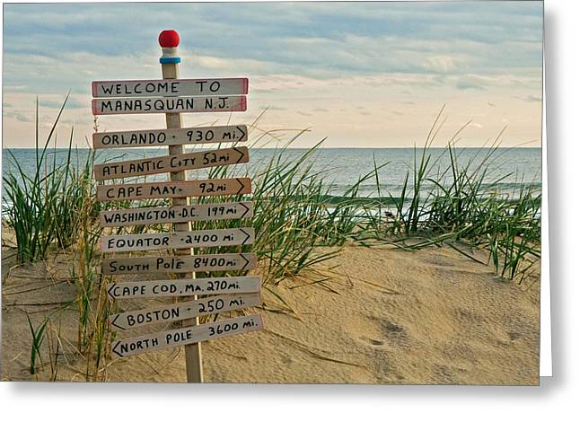 New Signs Greeting Cards - Welcome to Manasquan Greeting Card by Robert Pilkington