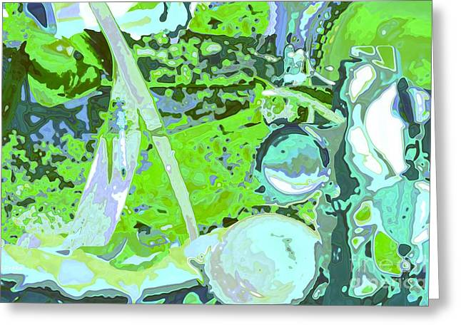 Abstractart Greeting Cards - Welcome to my Garden Greeting Card by Barbara Drake