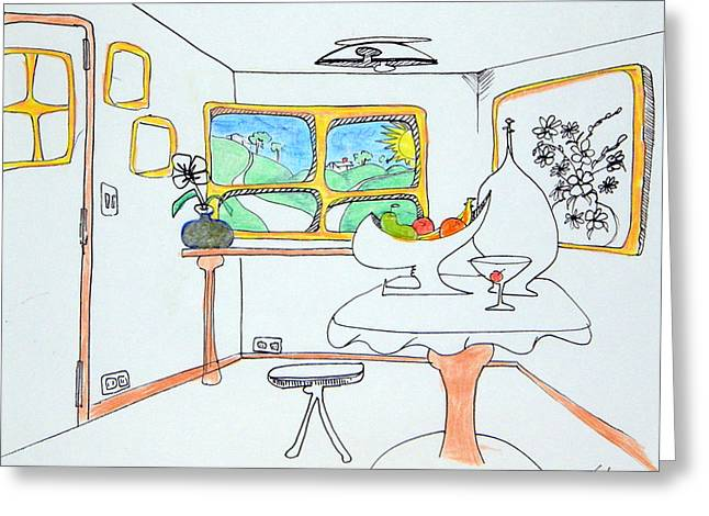 Denny Casto Greeting Cards - Welcome to my room Greeting Card by Denny Casto