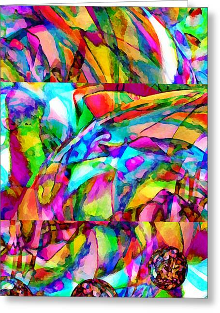 Experience Mixed Media Greeting Cards - Welcome To My World Triptych Greeting Card by Angelina Vick