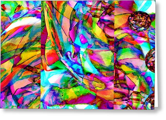 Experience Mixed Media Greeting Cards - Welcome To My World Triptych Horizontal Greeting Card by Angelina Vick