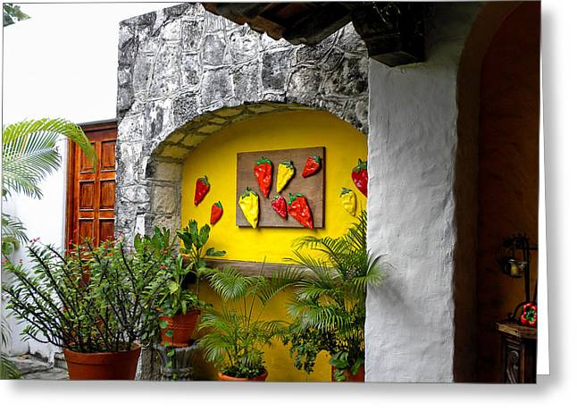 Entry-way Greeting Cards - Welcome to the Casita Greeting Card by Julie Palencia