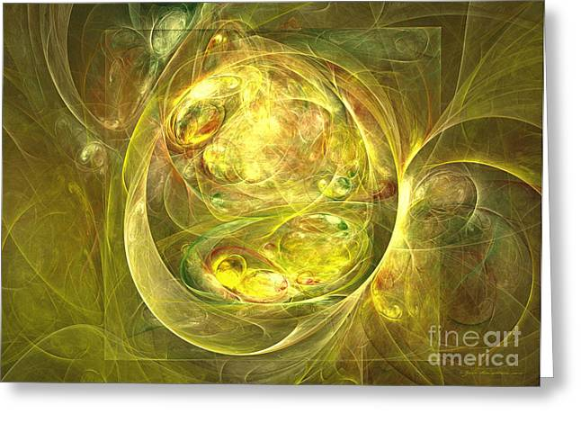 Interior Still Life Mixed Media Greeting Cards - Welcome to the jungle - abstract art Greeting Card by Abstract art prints by Sipo